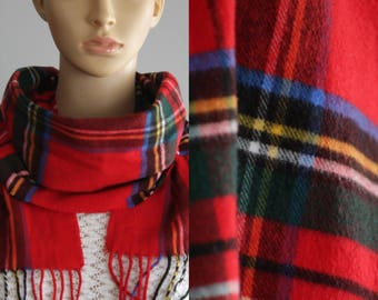 CLEARANCE  - Perfect Vintage Tartan Scarf from Germany