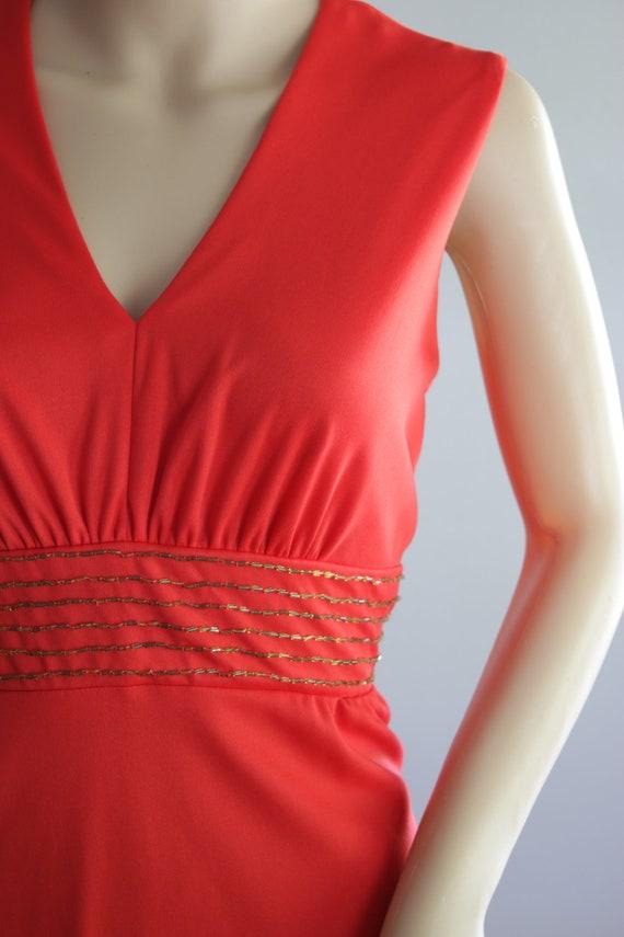 BLACK FRIDAY SALE Elegant 70s Red Summer Dress - image 8