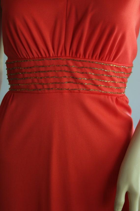 BLACK FRIDAY SALE Elegant 70s Red Summer Dress - image 5