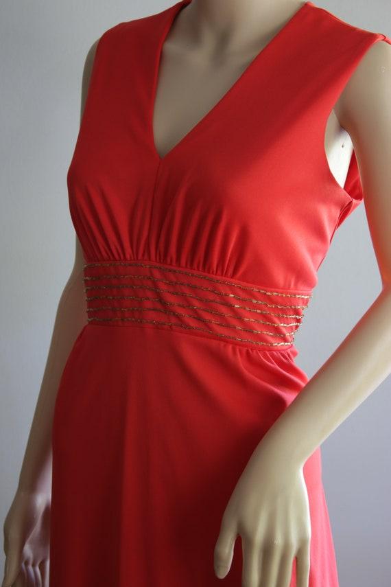 BLACK FRIDAY SALE Elegant 70s Red Summer Dress - image 6