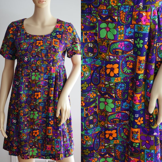 Groovy 60s/70s Colorful Dress