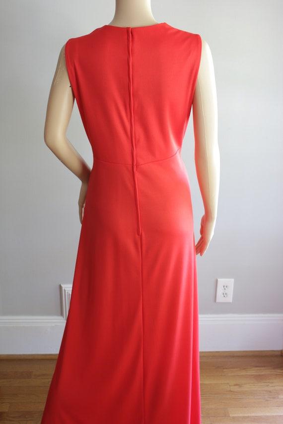 BLACK FRIDAY SALE Elegant 70s Red Summer Dress - image 10