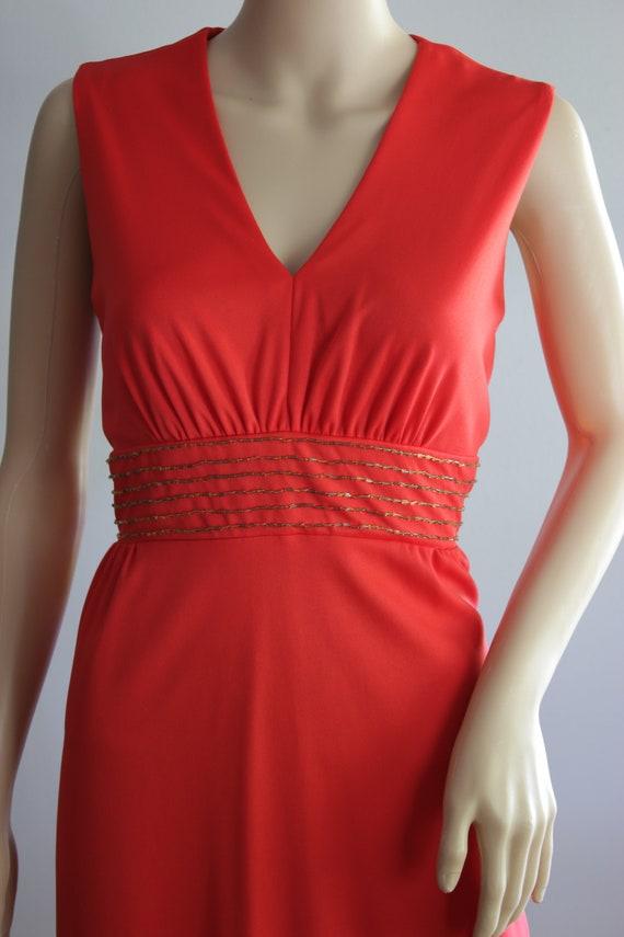 BLACK FRIDAY SALE Elegant 70s Red Summer Dress - image 3