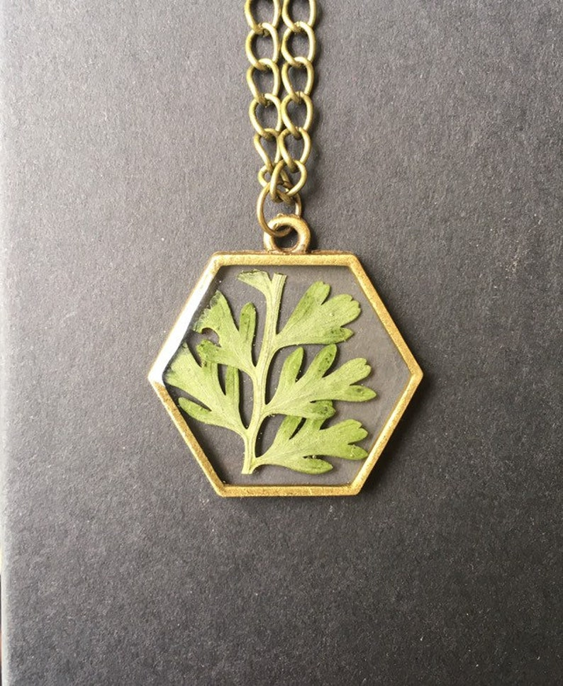 Handcrafted Pendant Necklace w/ Natural Materials from image 0