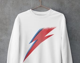David Bowie Sweatshirt Aladdin Sane Ziggy Stardust Fan