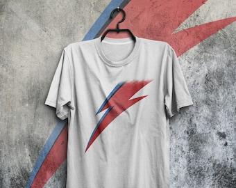 David Bowie Aladdin Sane T-shirt Ziggy Stardust Logo Tee