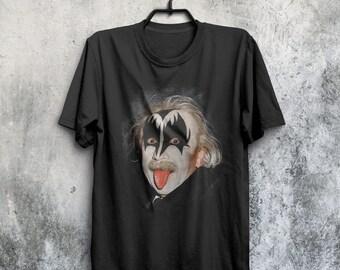 Einstein KISS band fan t-shirt
