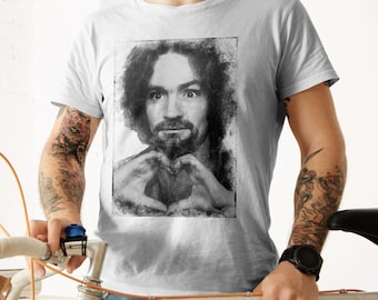Charles Manson Mugshot Love T-shirt Unisex Ultra Cotton Tee