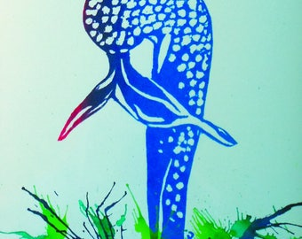 """Original Screenprint """"Cobra Lily"""" 12 inches by 16 inches"""