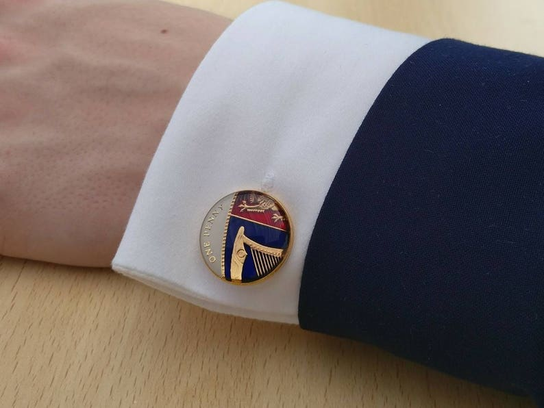 2012 One Penny Enamelled Coin Cufflinks