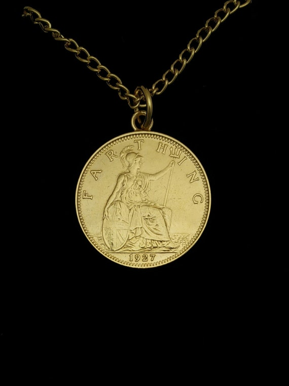 1952 67th Birthday Anniversary Farthing Gold Plated Charm Pendant ready to hang