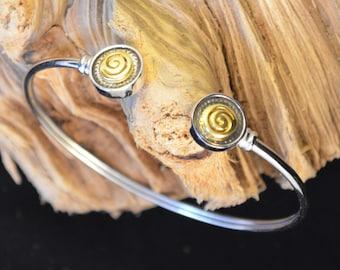 Circle Of Life Bangle Bracelet, Spiral Silver Bangle Bracelet, Greek Key Bangle Bracelet, Sterling Silver Bracelet, Ancient Greek Jewelry