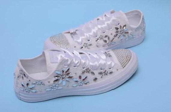 Custom Converse Sneakers With Rhinestone