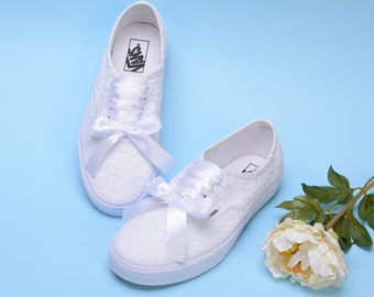 61ae8987f510 Wedding Vans shoes for Bride