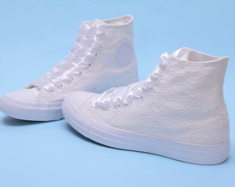 102a0151dda5 High Top Wedding Converse for bride