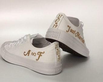 Personalized Wedding Converse sneakers ce207745ff37