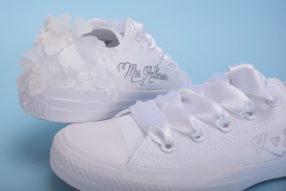 Personalized Wedding Converse For Bride