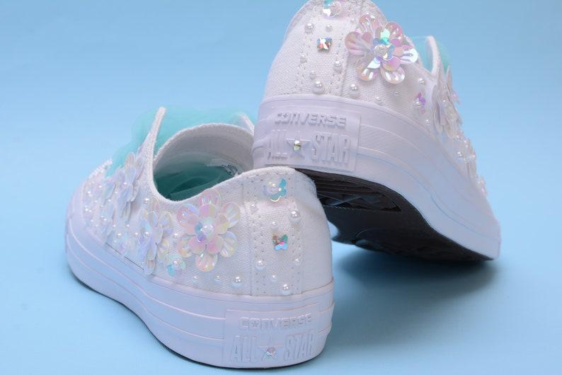 ae34bc2e789da1 Sparkle Converse for Women Bling Converse with Pearls