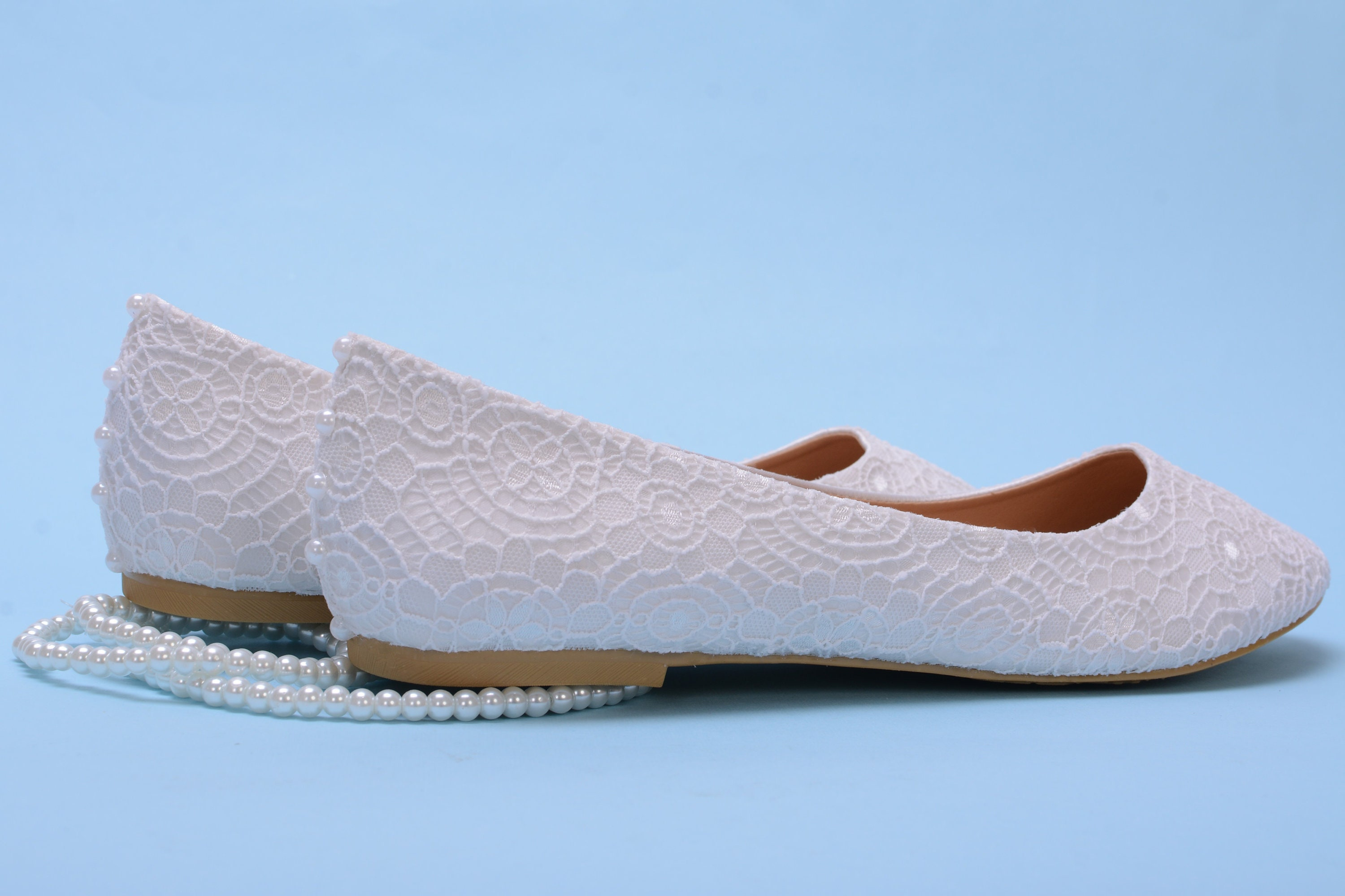 45726043b763 White Lace Flat For Wedding
