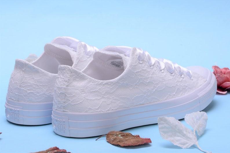 46cf4e0e5286 White Bride Converse Customized Converse Wedding Converse low