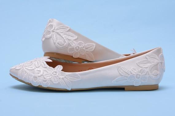 Bridal ballet flats, Lace bridal flat shoes
