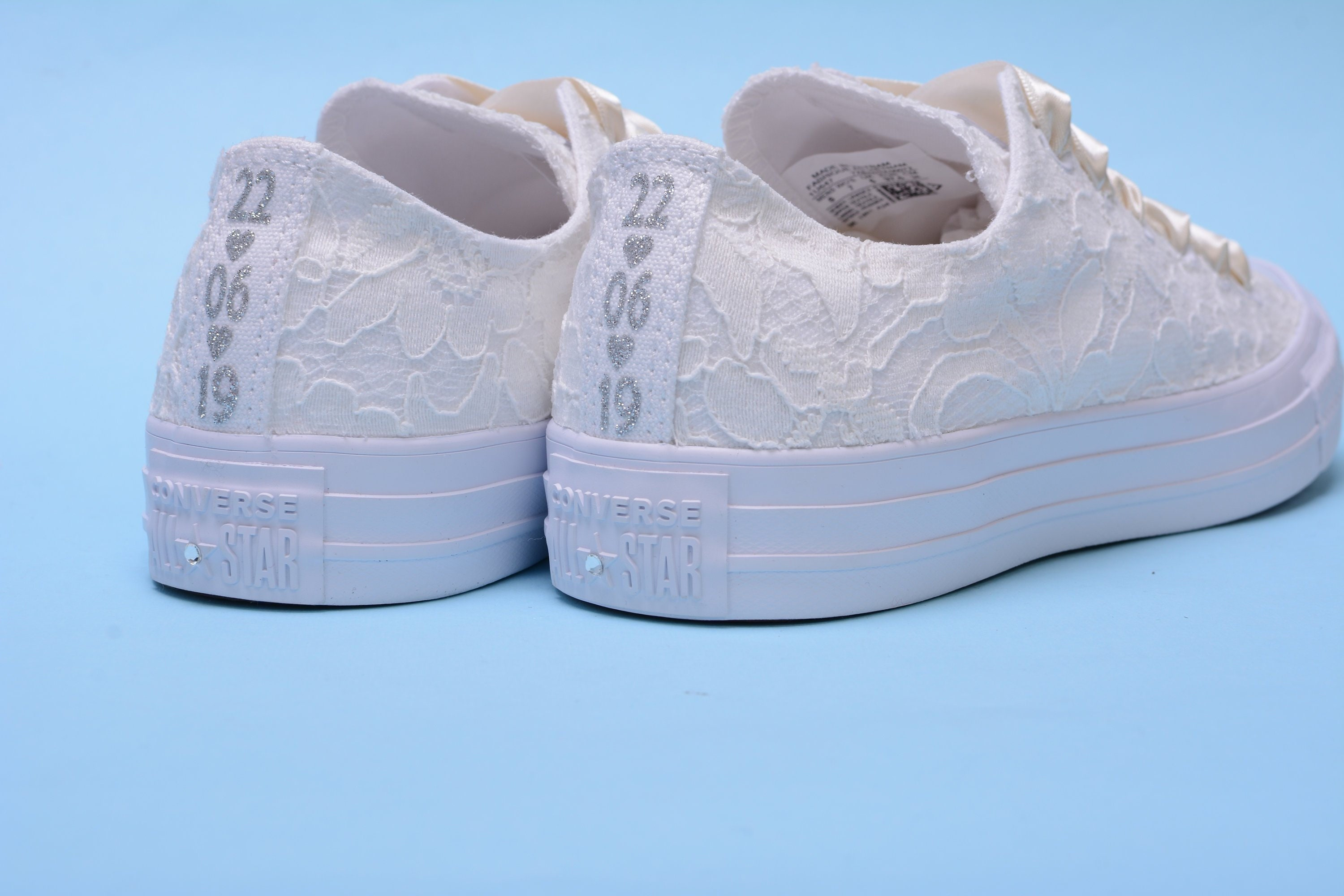 Personalized Ivory Wedding Converse For Bride ac8a3476f