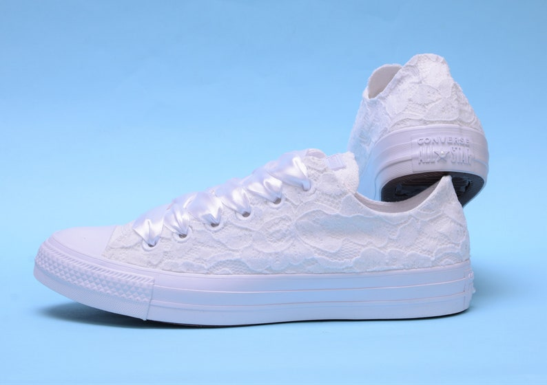 0f8ab655ac2f White Wedding Converse Low Top Lace Bridal Converse For