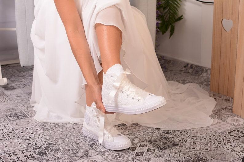 Hochzeit Converse weiß