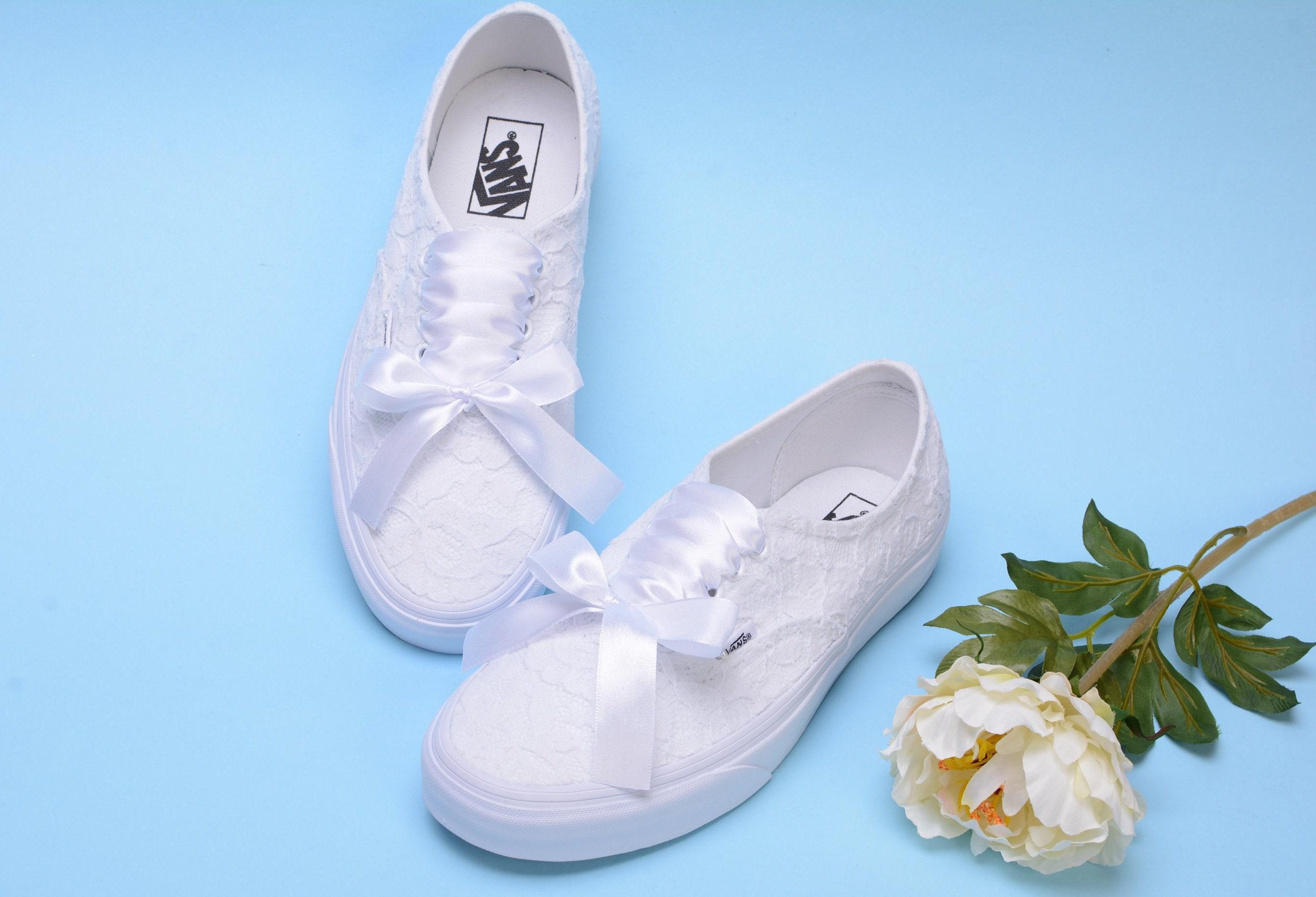 63182a1af682 Wedding Vans shoes for Bride