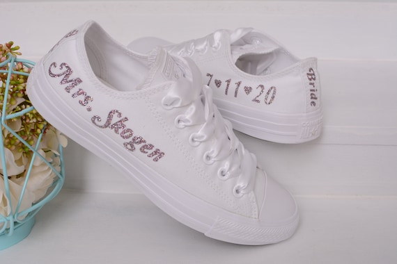 Custom Wedding Converse For Bride
