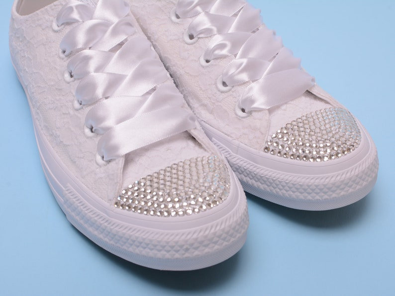 169bdb711bac Rhinestone Converse shoes for bride Bling Converse Bling