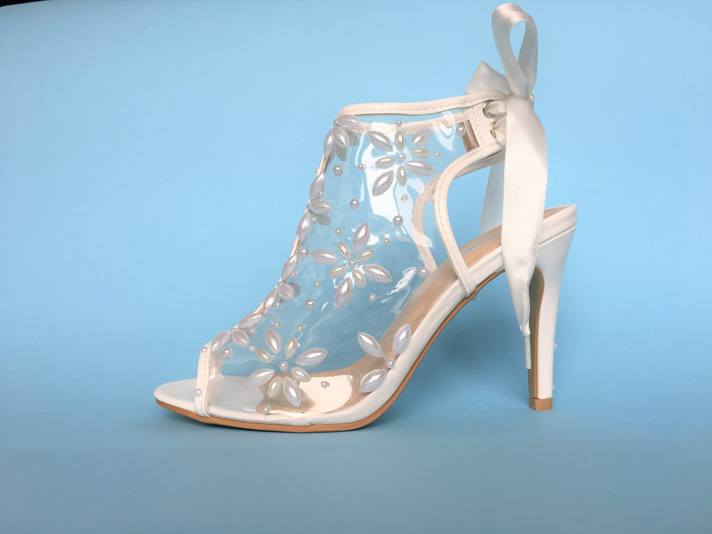 244b744789a Pearl Wedding Shoes, High Heels Wedding Shoes for Bride, White ...