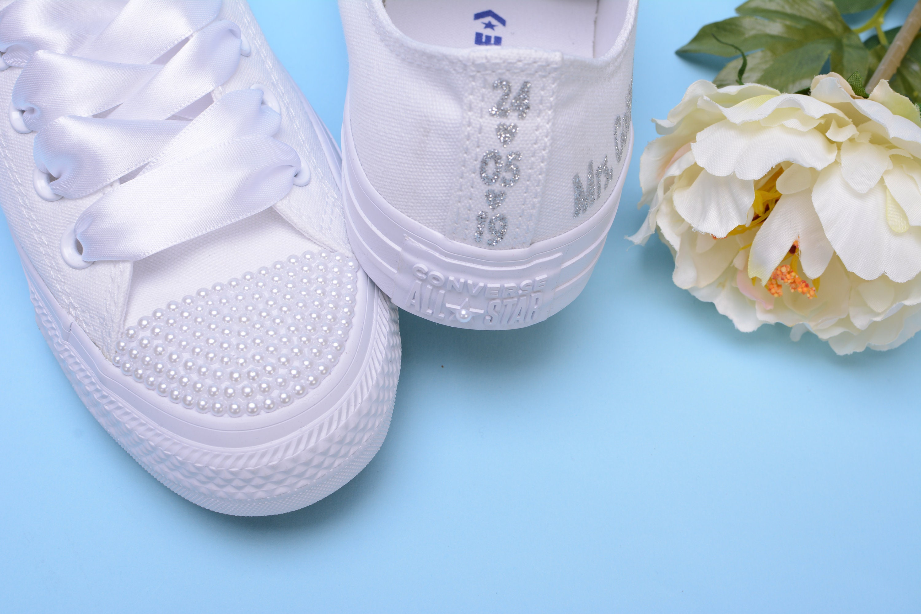 59a2c282abc0 Personalized Converse shoes for Bride