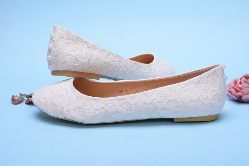 f62d4f3c382 Custom wedding shoes, Flat wedding shoes, Lace wedding flats for bride,  Satin Wedding ballet flats for bride white wedding flats ivory flats