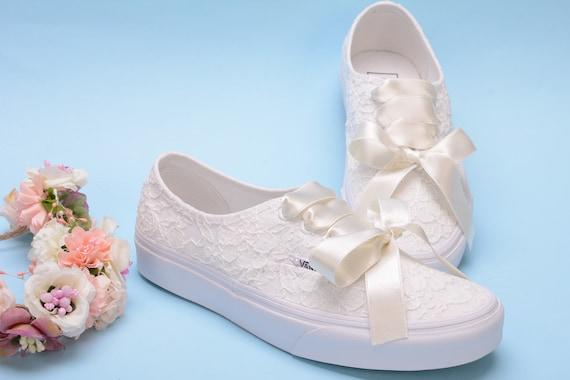 Lace Ivory Wedding Vans for Bride