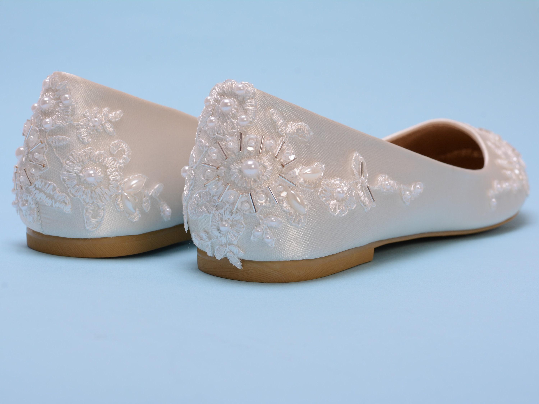 Ivory Flat Shoes Ivory Wedding Flats For Bride Bridal