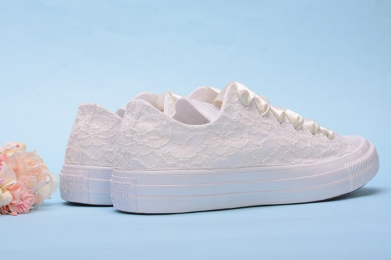 Ivory Lace Wedding Converse For Bride