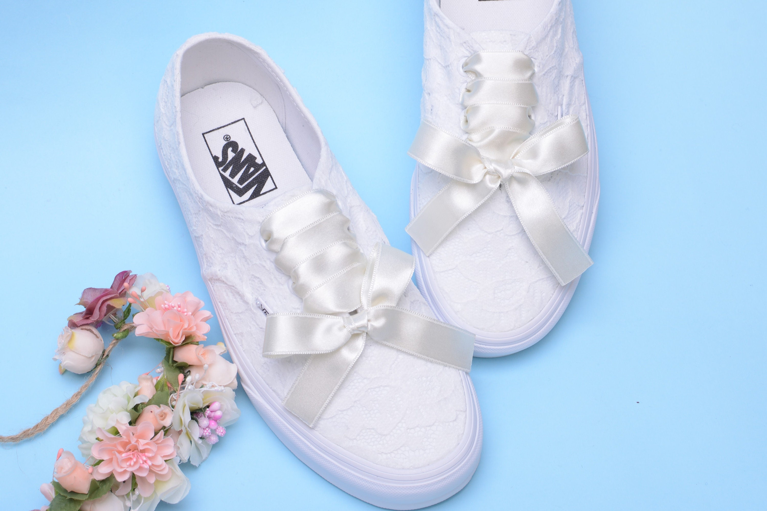 5b7edc1a53969e Ivory Wedding Vans for Bride