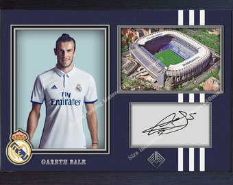 fe809c0efeb Gareth Bale real madrid photo signed autograph print picture Framed