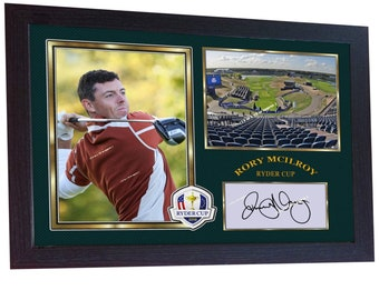 729575ae279 New Rory Mcilroy signed autograph photo print RORY MCILROY RYDER cup Golf  Framed