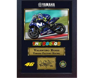 275cf4422ab Valentino Rossi autograph print signed photo picture FRAMED (MDF).
