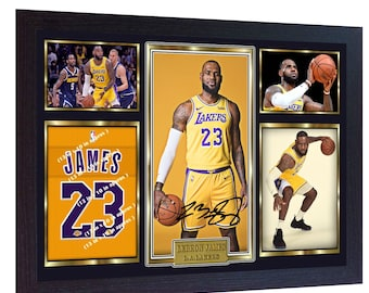 ca13b25fc0826 LeBron James Los Angeles Lakers signed autograph LEBRON photo print NBA  Framed Size including frame- (325 mm x 240 mm) 13 in x 10 in approx