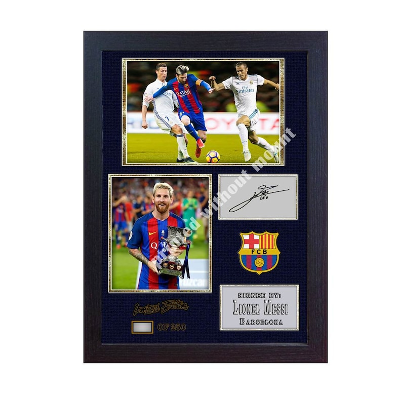 18038cf19cf Lionel Messi Barcelona FC Autographed Jersey - CharityStars. image 0