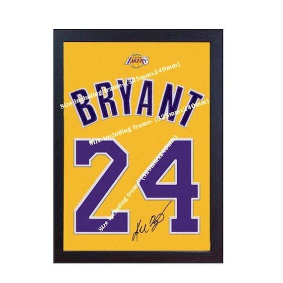 29d6354ade0 Kobe Bryant LA Lakers NBA signed autograph home Jersey T-SHIRT