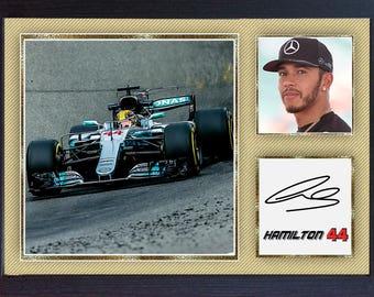 Lewis Hamilton signed autographed Mercedes AMG Formula 1 Petronas GP Framed