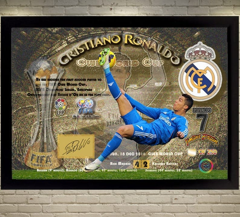 b1f202812 New Cristiano Ronaldo Real Madrid FC signed autograph Sport
