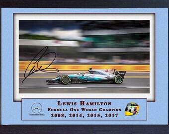 Lewis Hamilton signed autographed Memorabilia Mercedes AMG Formula 1 Petronas Framed print