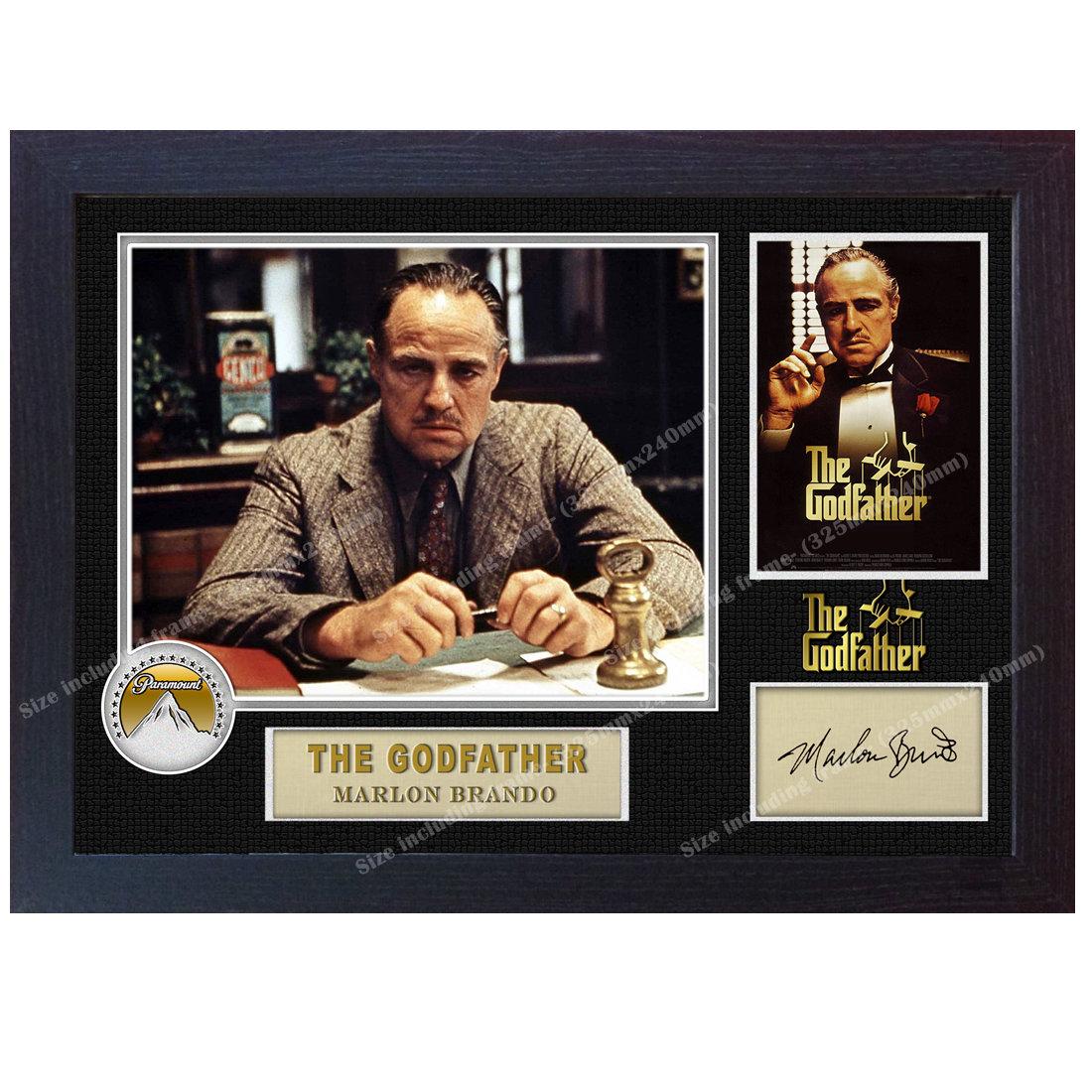 Der Pate signiert Marlon Brando Autogramm Plakat-Druck-Foto | Etsy