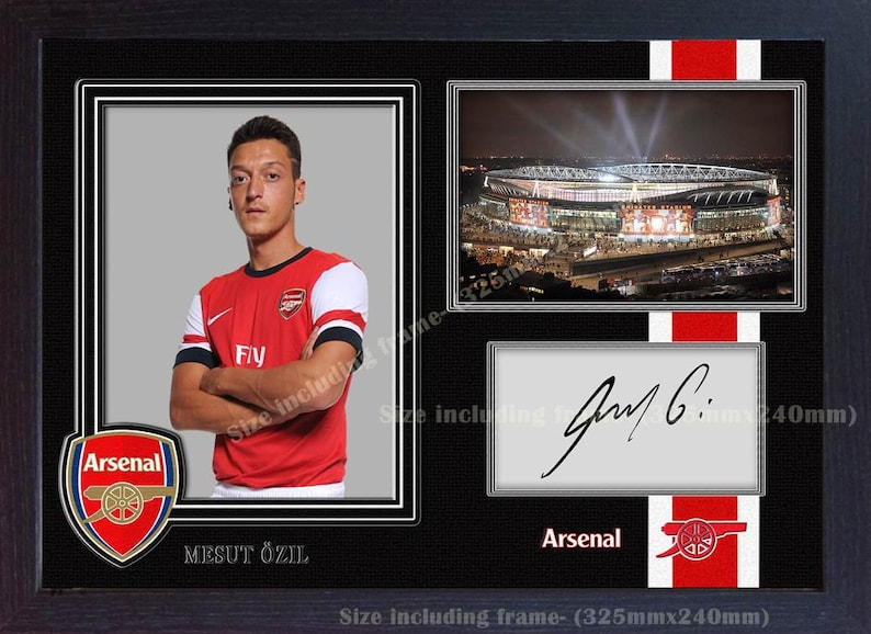 176bc4fc7 Mesut Ozil Arsenal signed autograph poster photo print picture