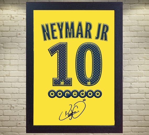 06666359cc8 new Neymar JR T-shirt Paris Saint Germain signed printed on